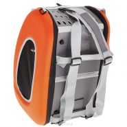 Ibiyaya Складная сумка 3 в 1 (сумка, рюкзак, тележка) оранжевая