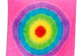 Появление шелкового флага (1.6 *1.65 метра) разноцветный