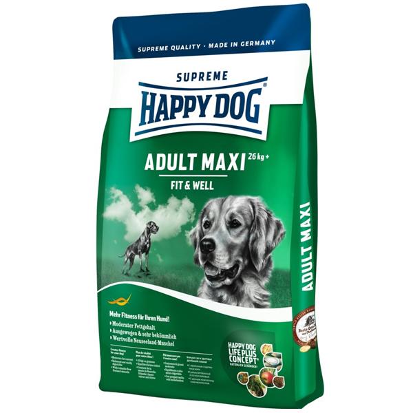 Корм сухой Happy Dog Maxi Adult для собак крупных пород с птицей 15кг