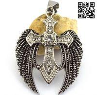 Нательный крест с крыльями Архангела