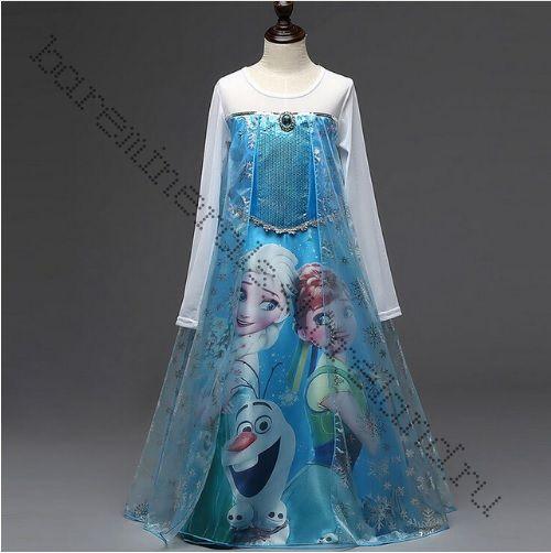 Платье Эльзы Холодное сердце 110, 120, 130 см