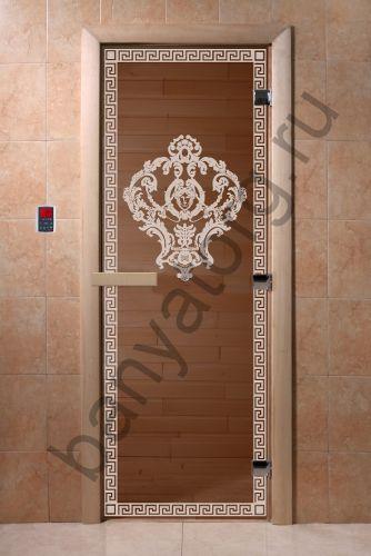 Дверь для бани DoorWood Версаче Бронза
