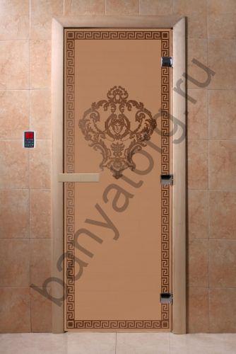 Дверь для бани DoorWood Версаче Бронза матовая