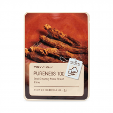"""Tony Moly"" Pureness 100 Red Ginseng Msk Sheet, Тканевая маска для сияния кожи с красным женьшенем, 21 мл"