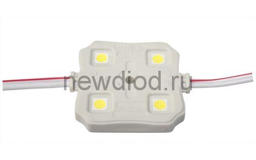 Светодиодный модуль SMD 5054/4LED 88LM  35*35*5 мм 1W,88 LM, 6500К IP65 warm white