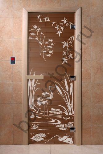Дверь для бани DoorWood Камышовый Рай Бронза
