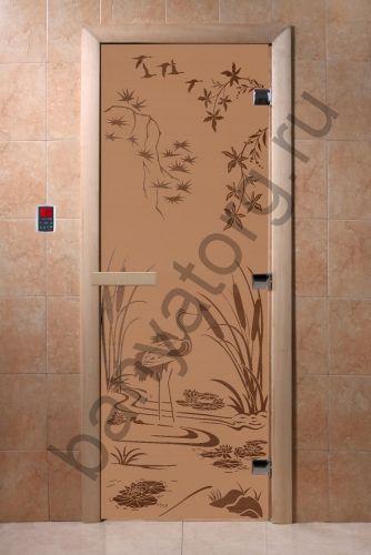 Дверь для бани DoorWood Камышовый Рай Бронза матовая