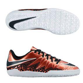 Детские футзалки Nike HyperVenom Phelon II IC Junior золотые