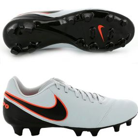 Бутсы Nike Tiempo Genio II Leather FG белые