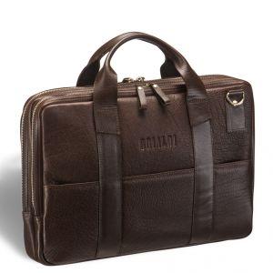 Деловая сумка с двумя автономными отделениями Brialdi Grand Locke (Гранд Локк) brown