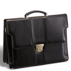 Классический деловой портфель жесткой формы Brialdi Kant (Кант) black