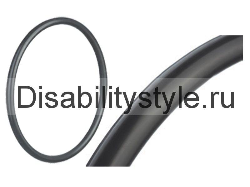 Силиконовая накладка на обруч механической коляски. Цвет черный.