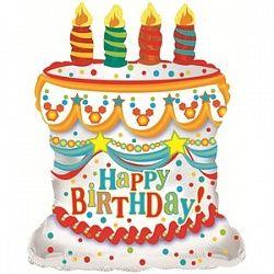 Торт со свечками - шар фольгированный с гелием