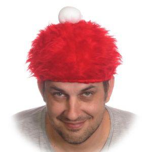 """Шляпка """"Новогодняя"""" меховая, красная"""