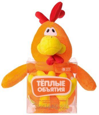 Игрушка - грелка Теплые объятия Петух оранжевый