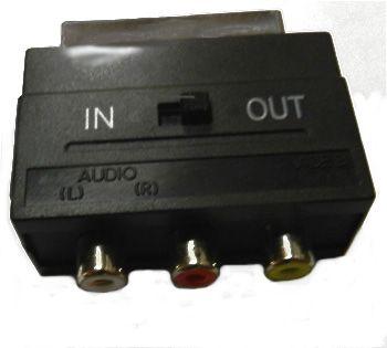 Переходник SCART - 3 RCA (вход-выход) JETT (303-351)