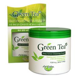White Organia Очищающий крем глубокого действия Eco salon с экстрактом зеленого чая, 500 мл