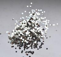 Кружочки серебро для дизайна ногтей №2 (2 мм)