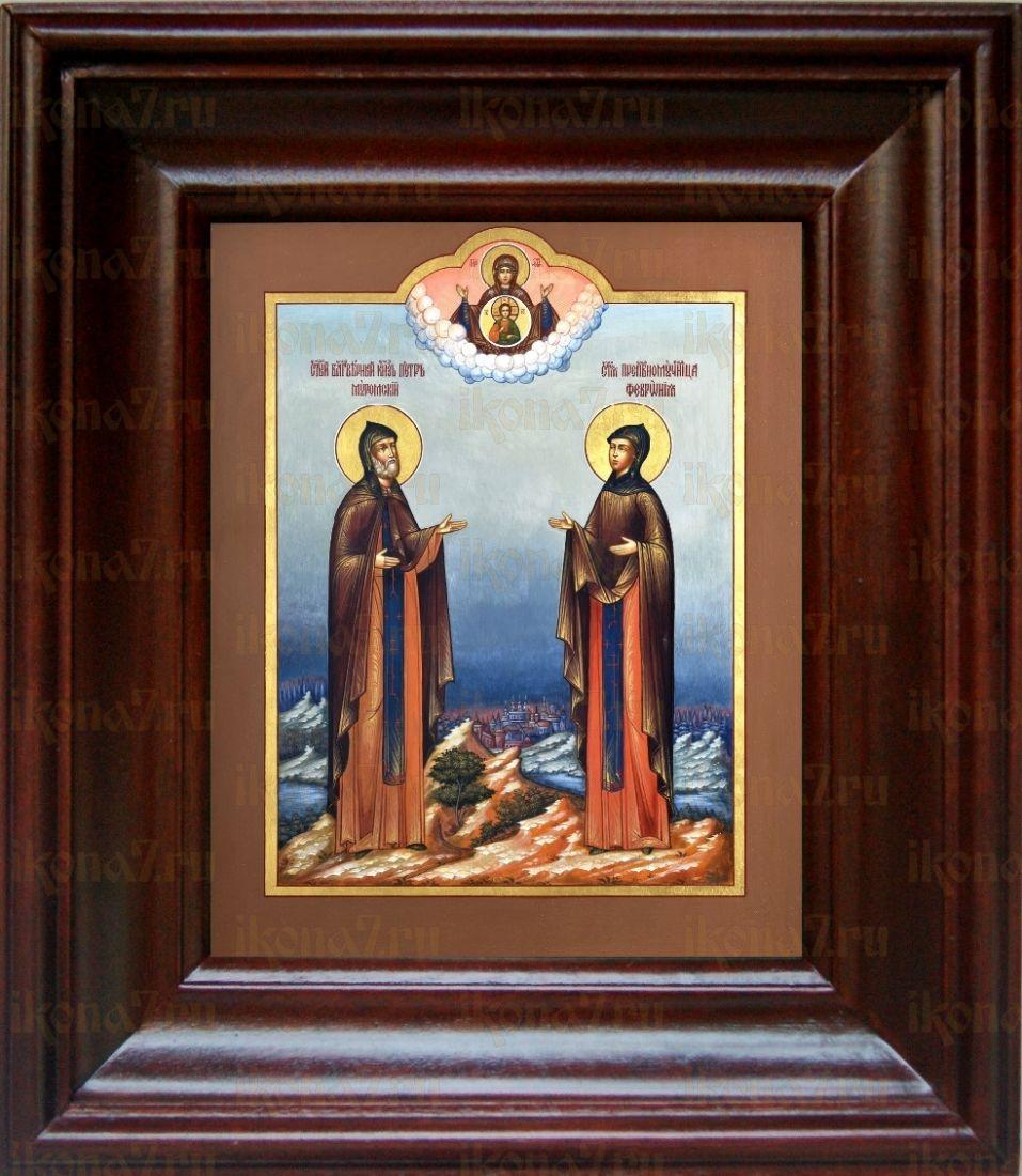 Петр и Феврония Муромские (21х24), простой киот