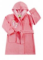 Банный халат для девочки розовый