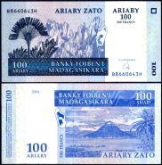 Мадагаскар - 100 Ариари 2004 UNC