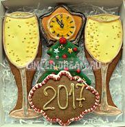 """Пряники Новогодние """"Брызги Шампанского"""" Новогодние подарки Ginger Dream"""
