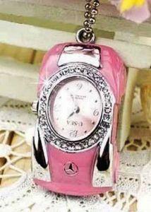 Флешка-Часы Автомобиль (розовый)