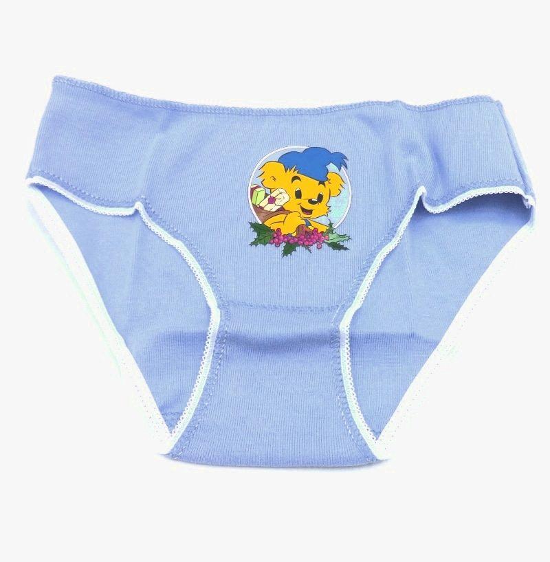 Голубые трусики Мышонок для девочки 6 лет