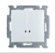 Выкл. 2-клав. с подсв. ABB BJB Basic 55 Беж