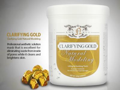 ANSKIN NATURAL Альгинатная маска лифтинг-эффект с золотом Clarifying Gold Modeling Mask банка 700мл (450г)