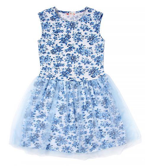 Платье для девочки Голубая роза