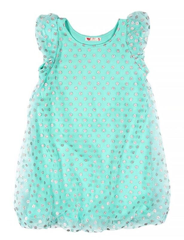 Нарядное платье для девочки Серебро