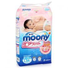 Японские подгузники Moony L 54, 9 - 14 кг. Экспортные