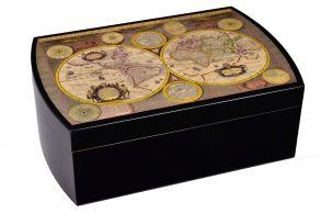 Хьюмидор Mastro de Paja на 50 сигар Карта мира
