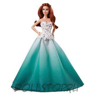 Коллекционная кукла Праздничная Барби 2016 - Barbie 2016 Holiday Barbie Doll with Red Hair - Kmart Exclusive