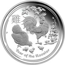 1 доллар 2017 года, Австралия, Год Огненного Петуха
