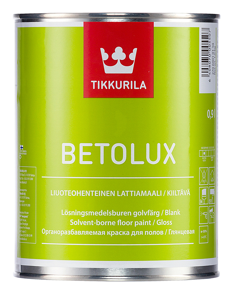 Краска для полов Тиккурила Бетолюкс