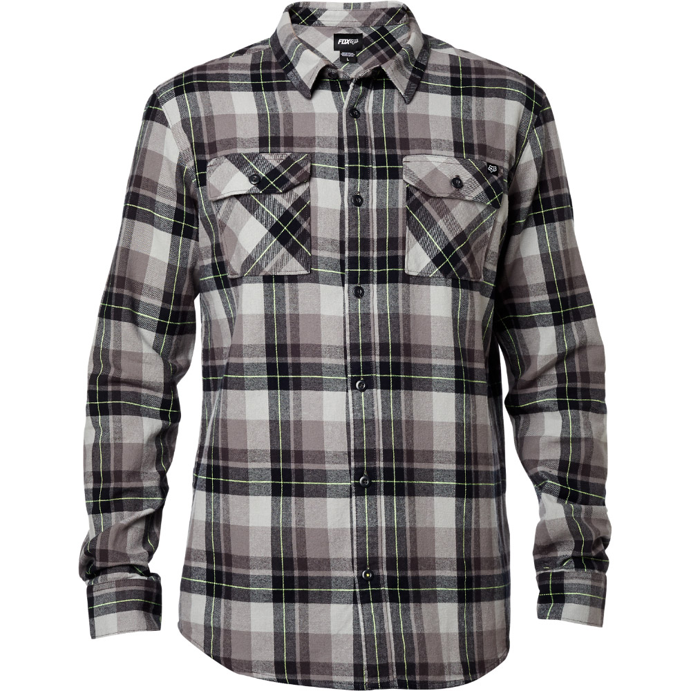 Fox - Traildust LS Flannel Vintage рубашка, черная