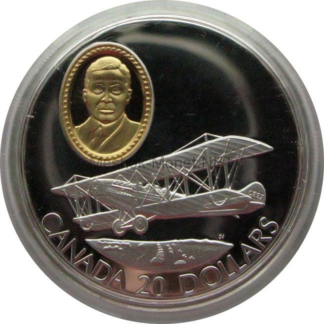 Канада 20 долларов 1992 г. Герои авиации Sir Frank W. Baillie