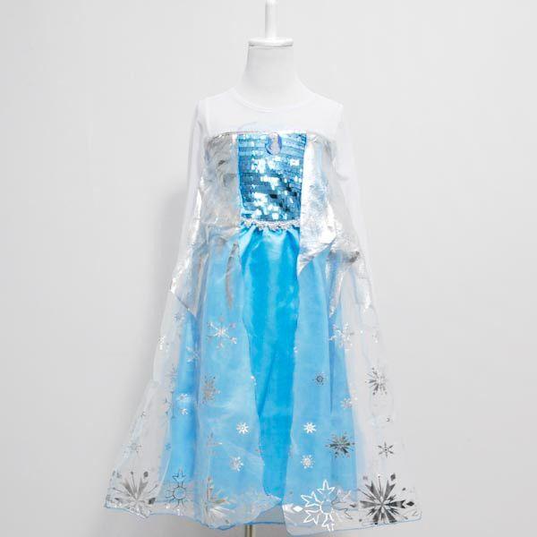 Платье Эльза Холодное сердце серебристое п12
