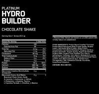 Optimum Nutrition Platinum HydroBuilder состав
