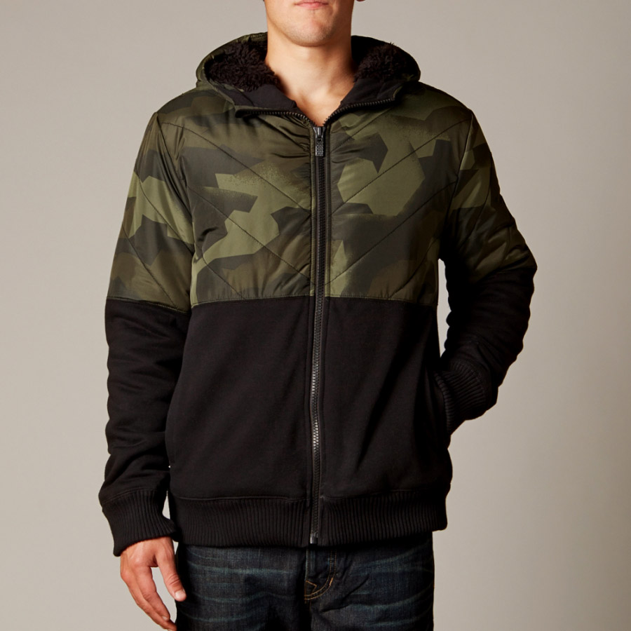 Fox - Crockett Sasquatch Zip Fleece Camo куртка зеленая