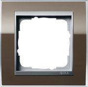Рамки Gira Event Clear (System 55) цвет вставки Алюминий