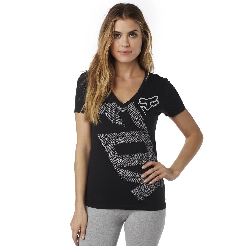 Fox - Angled V Neck SS Tee футболка женская, черная