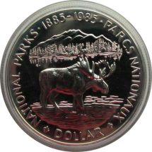Канада 1 доллар 1985 г. Национальные парки Лось