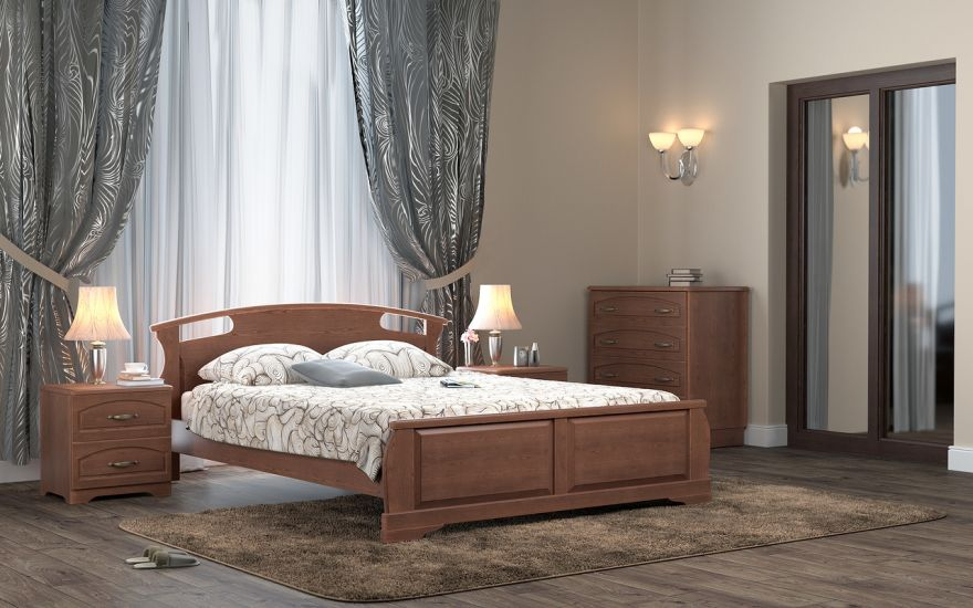 Кровать Афродита 1 (массив бука) | DreamLine