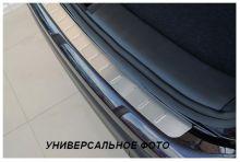 Накладка на задний бампер, Alufrost, штампованая нерж. сталь