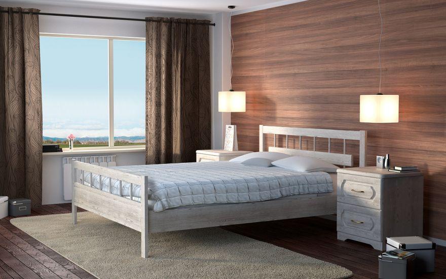 Кровать Троя (массив бука)   DreamLine