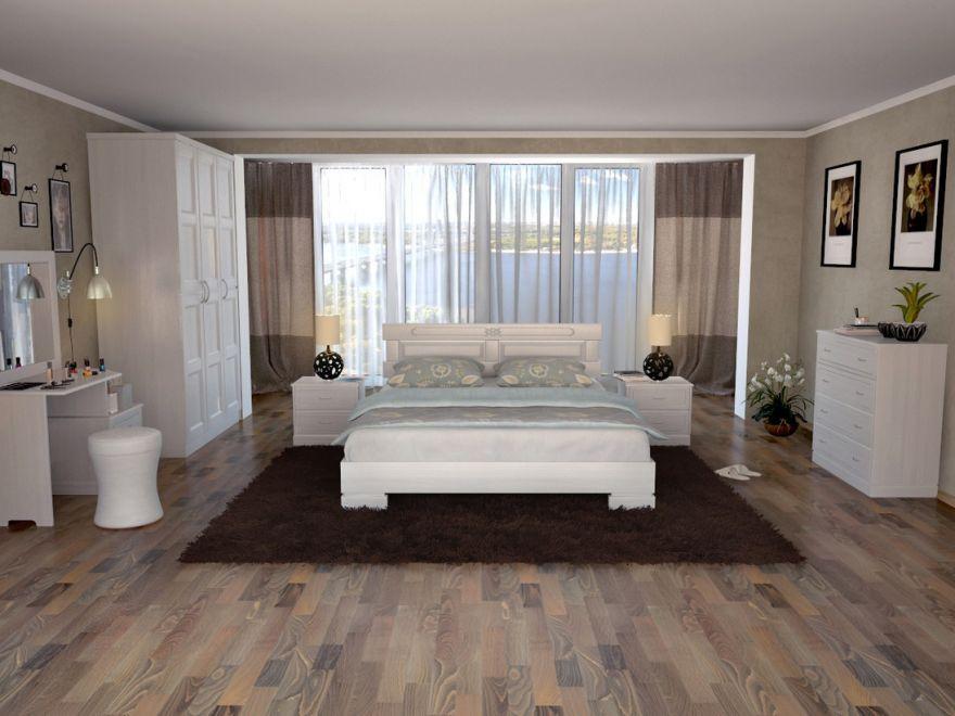 Кровать Варна (массив ясеня) | DreamLine