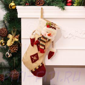 Рождественский чулок утягивающийся Снеговик